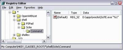 Open file in SciTe with right click